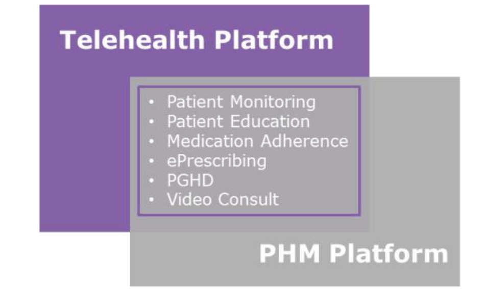 Patient monitoring, medication adherence, and video consultations are just some of the features telehealth platforms and PHM platforms have in common.